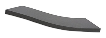 Dibapur ® BLACK: Orthopädische Kaltschaummatratze / Akustikschaumstoff - H2 - (120x200x5 cm) Ohne Bezug - Made in Germany -