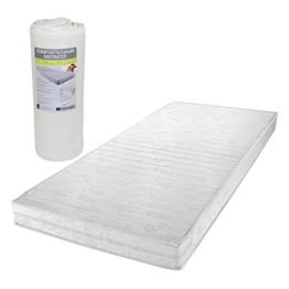 Matratze Rollmatratze Wendematratze Komfortschaum in 90 x 190 cm, Gesamthöhe 13 cm, Klimafaser versteppt -